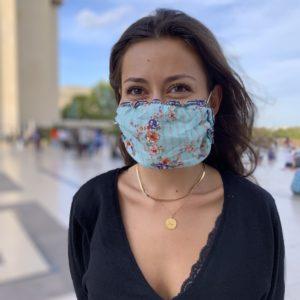 Masque Imprimé Pensée Turquoise